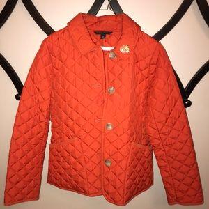 Banana Republic Orange Quilted Jacket
